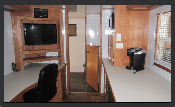 Inside rental trailer 1