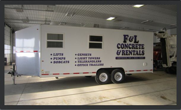 F & L Concrete rental trailer