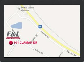 Map of the F & L Concrete Services location at 101 Claman Dr